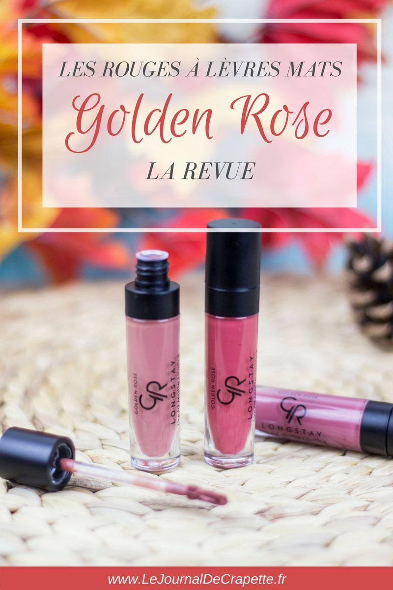 golden-rose-rouge-levres-liquide #goldenrose #lipstick #mattelipstick