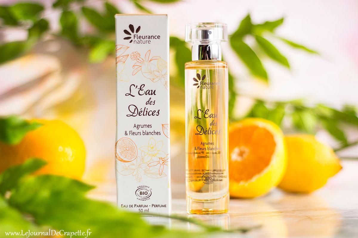 brume parfumee eau des delices fleurance nature