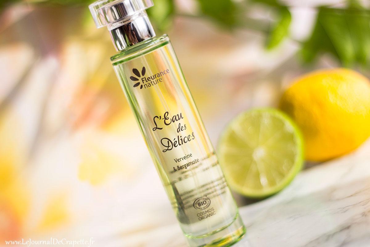 parfum eau des delices fleurance nature