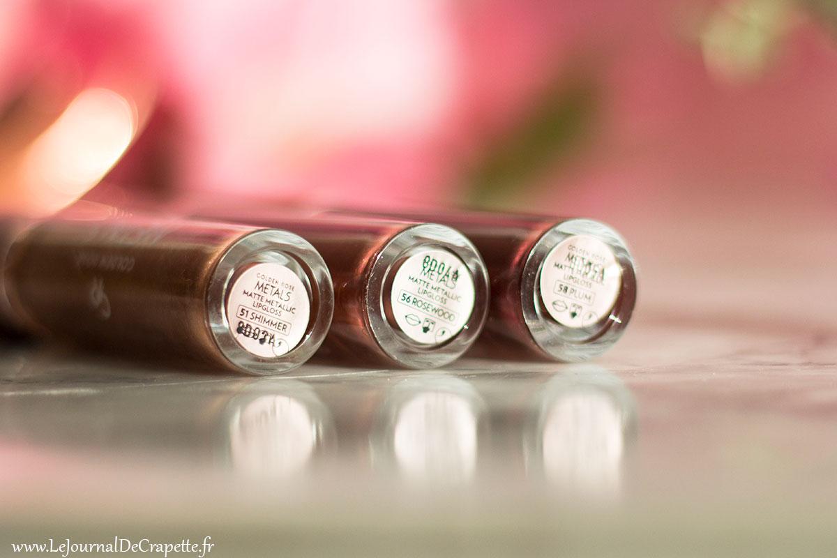 Les rouges à lèvres metals mats de Golden Rose