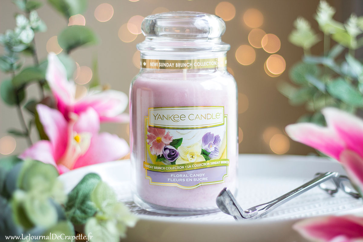 bougies fleurs de sucre de Yankee Candle