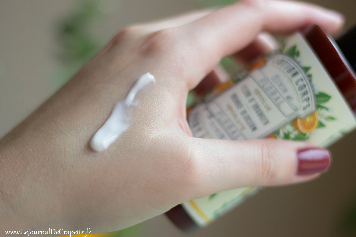 texture lait corps panier des sens