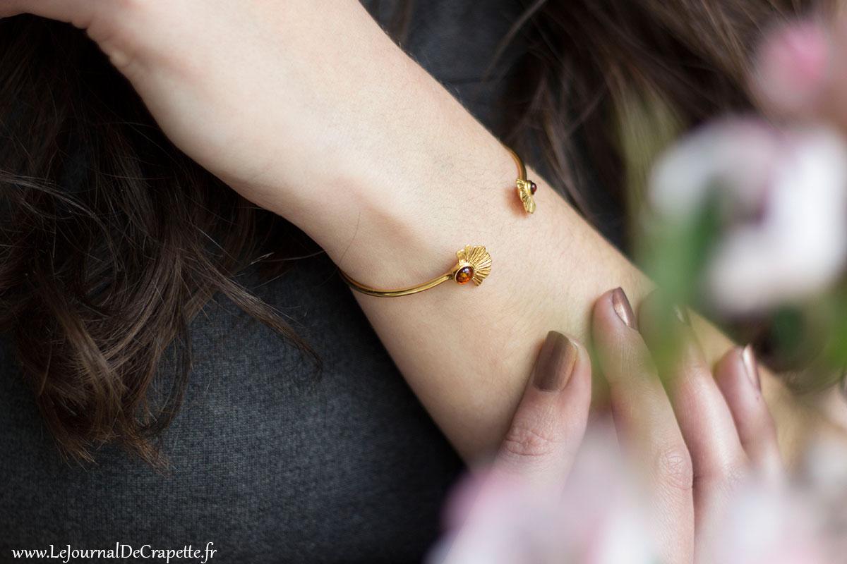 bracelet jonc porté