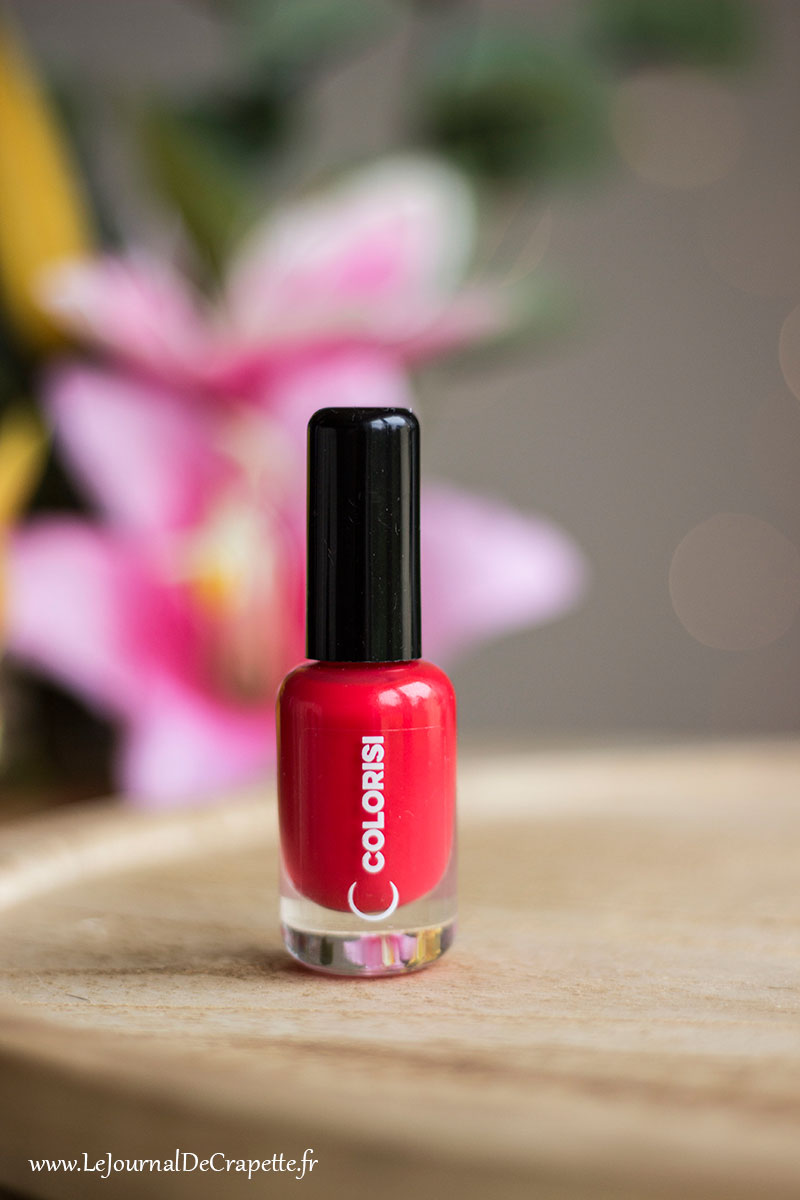 Vernis ongle rouge corail Colorisi