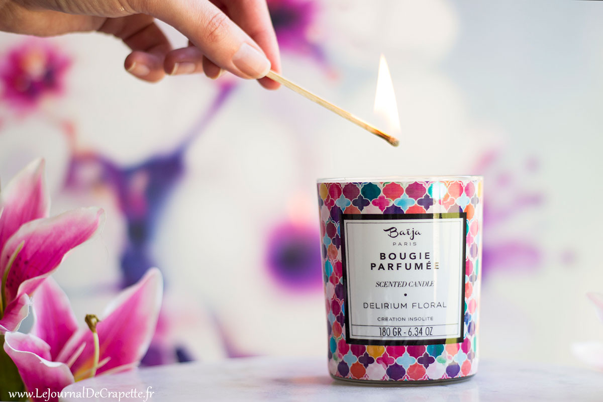 bougie parfumée Baija Delirium floral