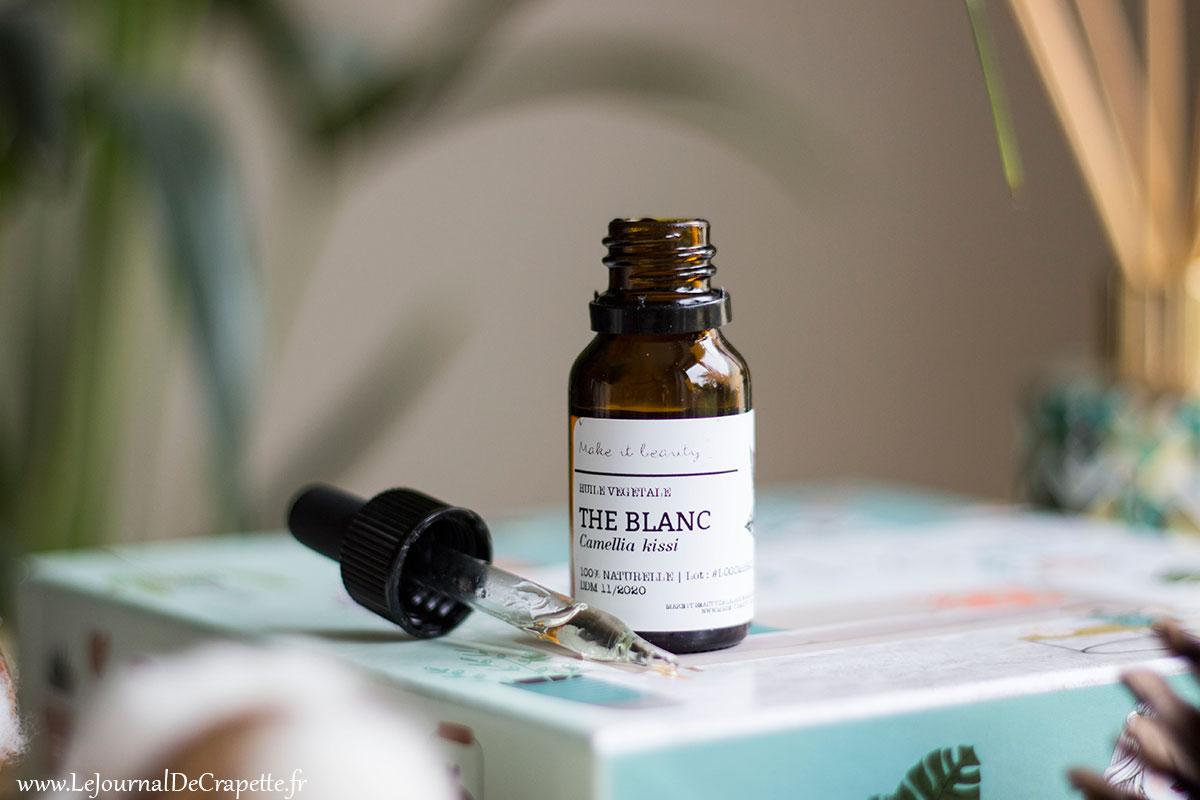 huile végétale au thé blanc de Make It beauty