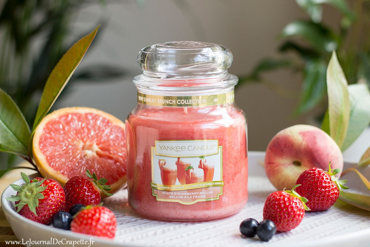 Bellini a la fraise de Yankee Candle bougie avis