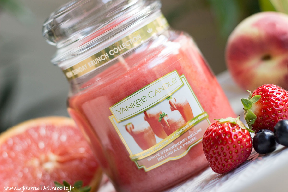 bougie a la fraise Yankee Candle