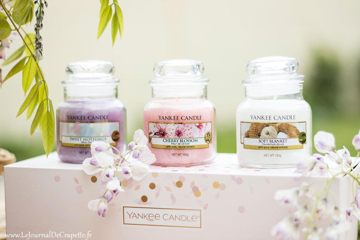 yankee candle trio de bougies douces