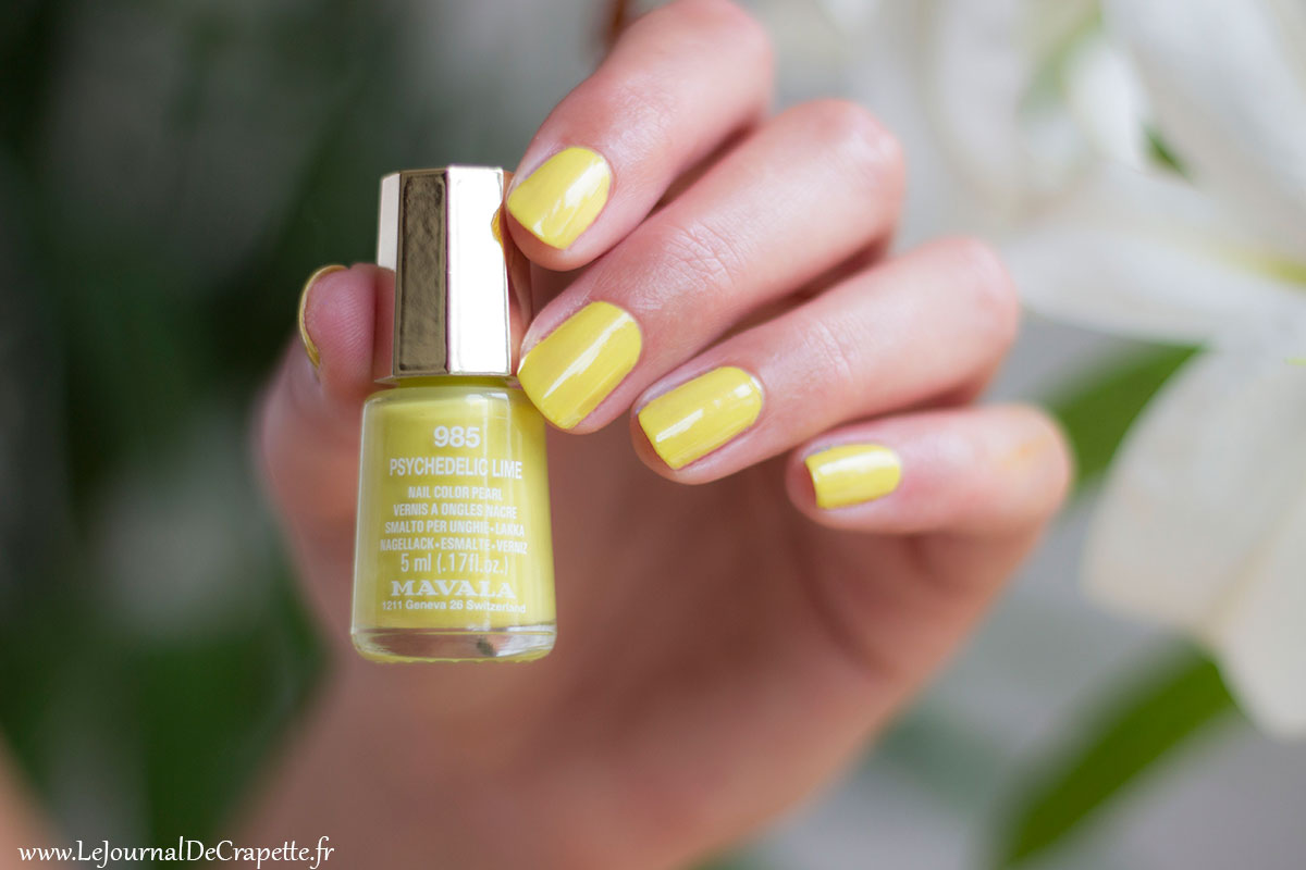 Mavala vernis Psychedelic Lime swatch
