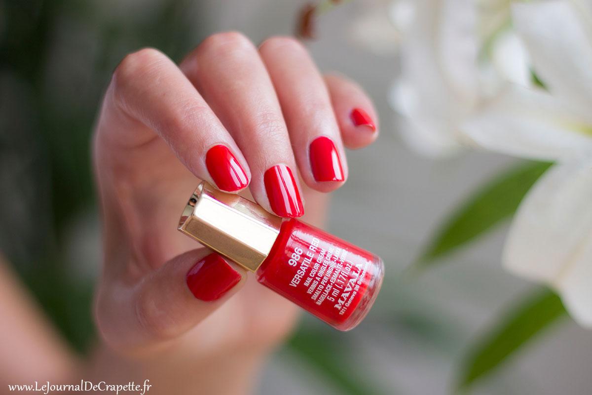 Versatile red mavala swatch