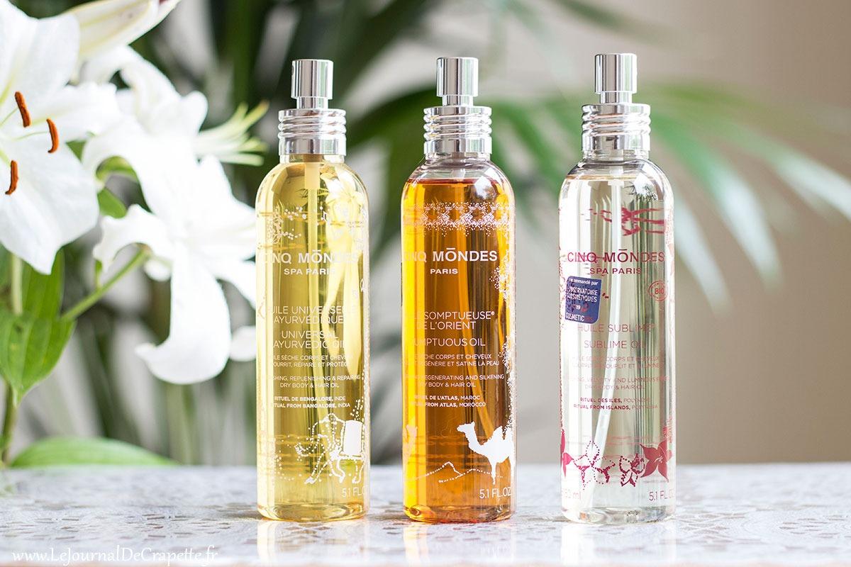 cinq mondes huiles corps cheveux