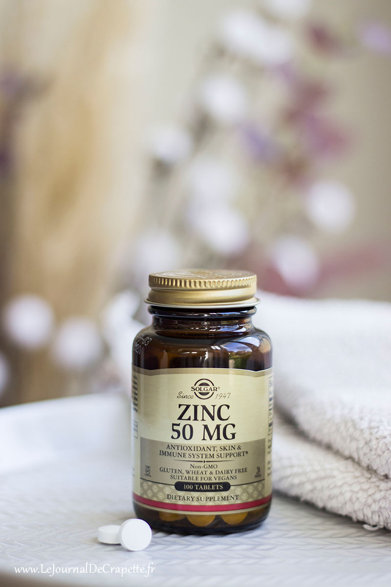 zinc anti acne solgar