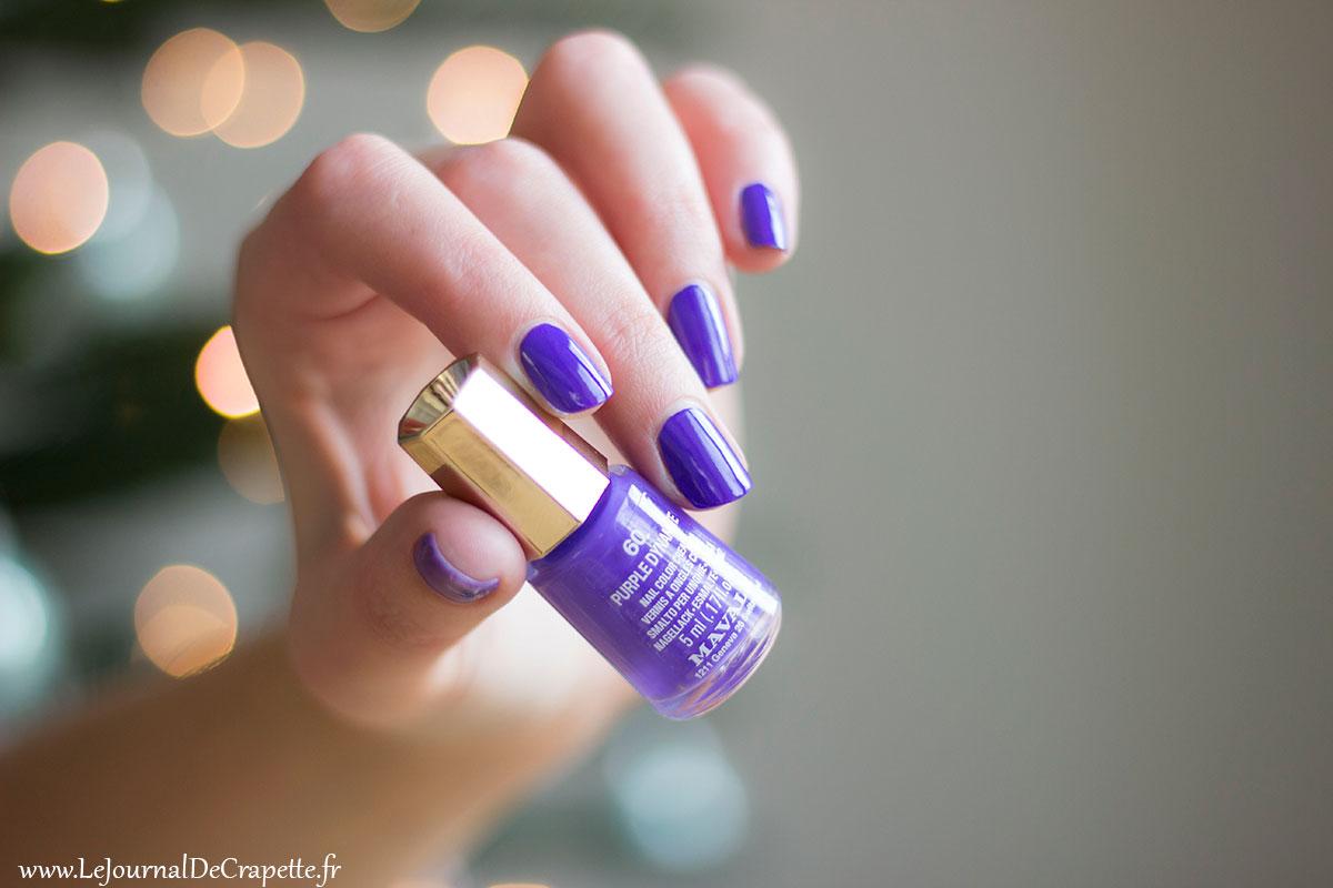 Mavala Vernis purple dynamite swatch