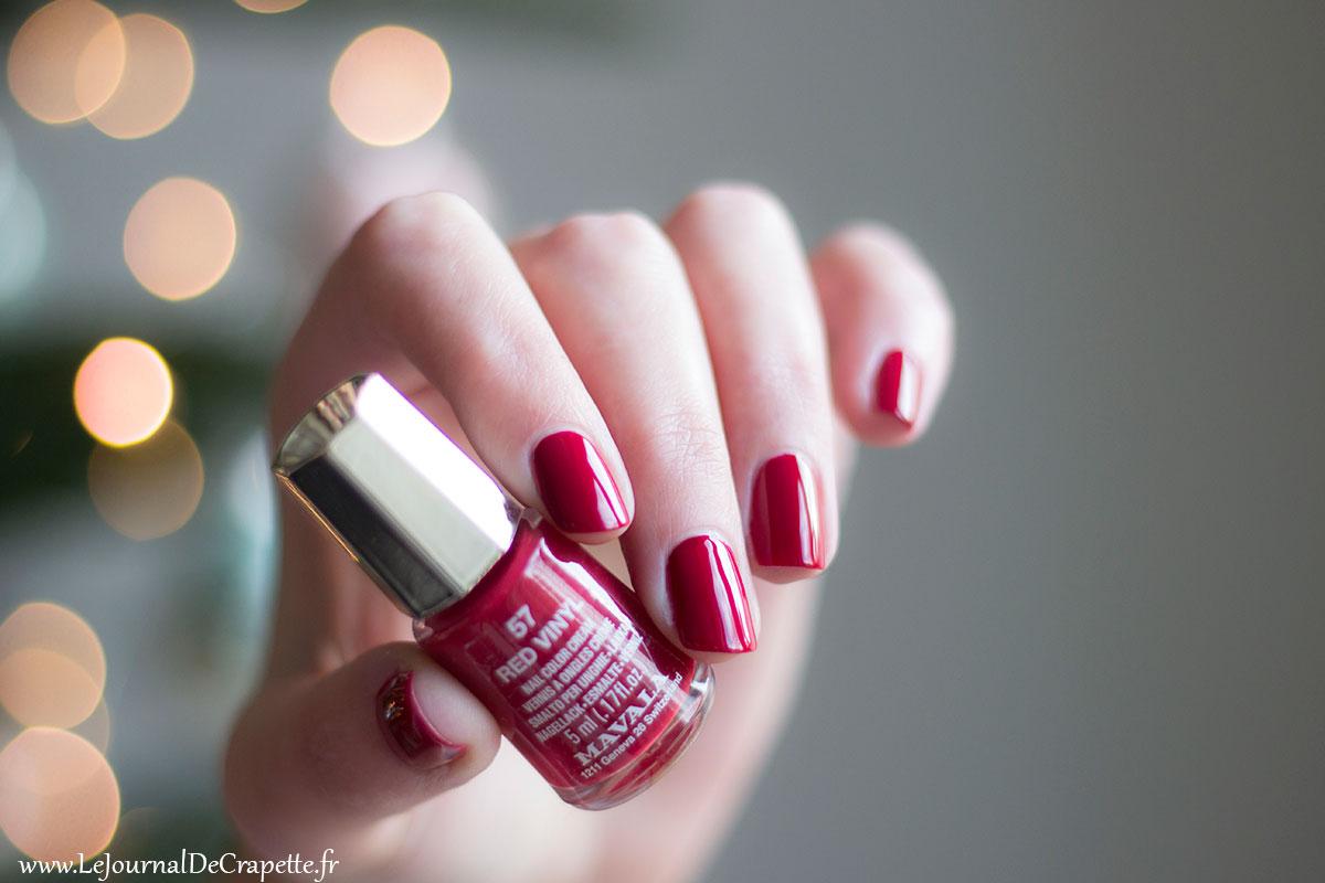 red vinyl mavala vernis swatch