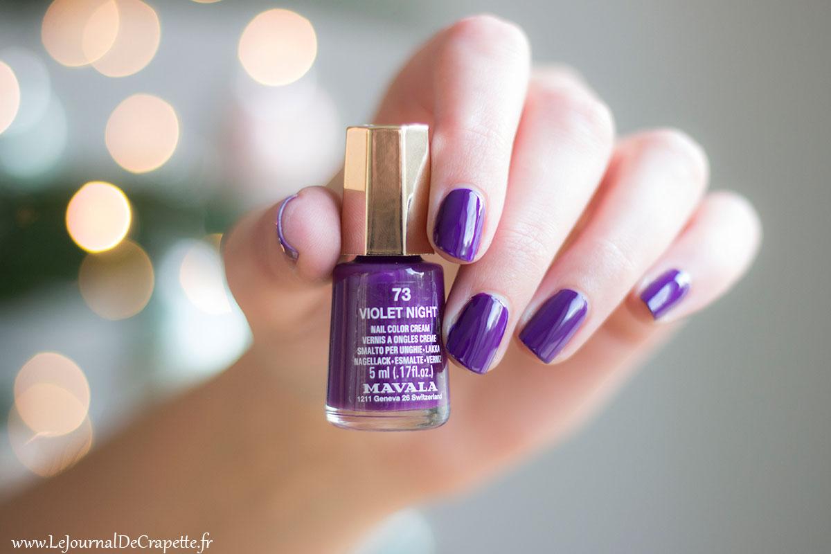 Mavala vernis violet night swatch