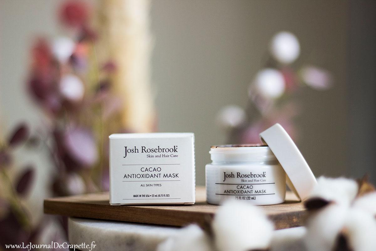 cacao antioxydant mask josh rosebrook