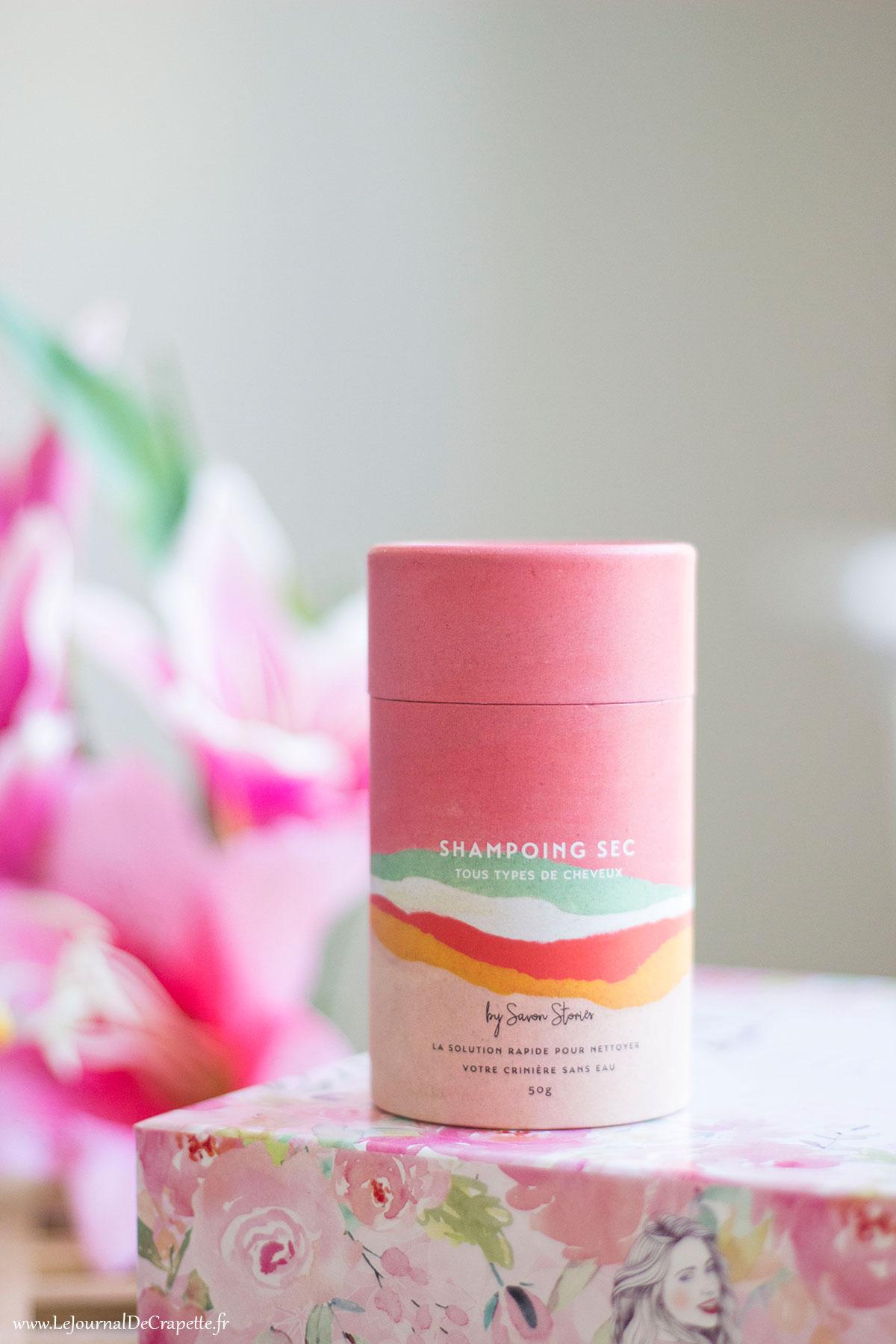 shampoing sec savon stories